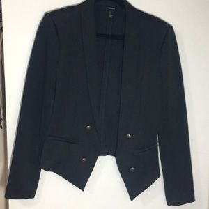 Forever 21 nautical black blazer jacket
